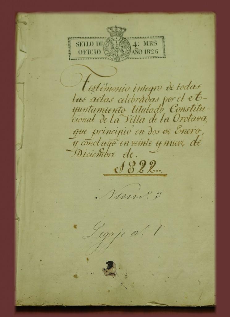 Actas del Pleno de 1822